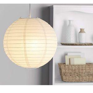 Rice Paper Lantern Pendant Shade White Boho